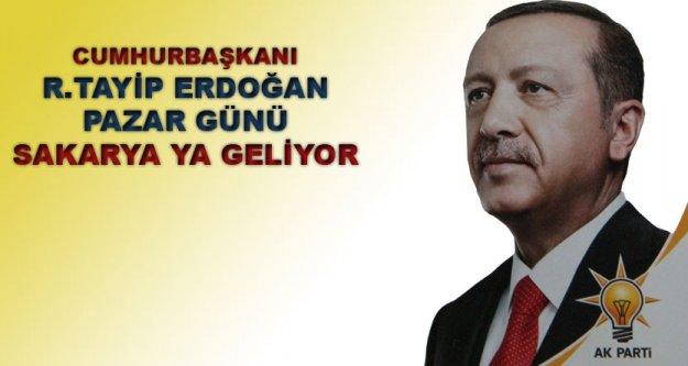 Cumhurbaşkanı Erdoğan Sakarya#039;ya geliyor.