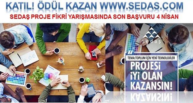 Sedaş'ın Proje Yarışmasına katılım 4 Nisana uzatıldı.