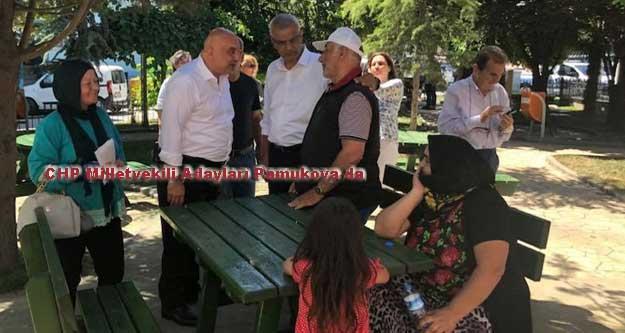 CHP Milletvekili Adayları Pamukova esnafının sorunlarını dinledi.