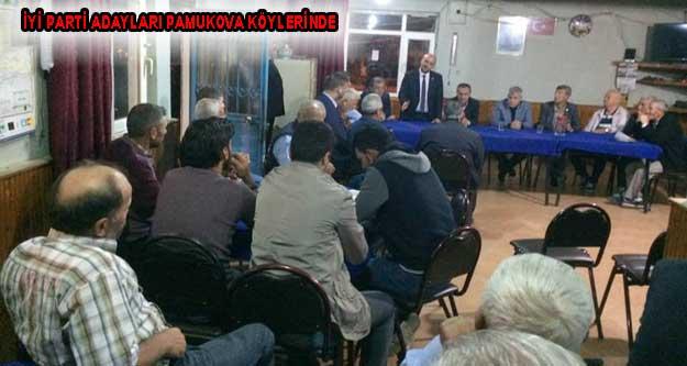 İYİ Parti adayları Pamukova Köylerinde moral buldular.