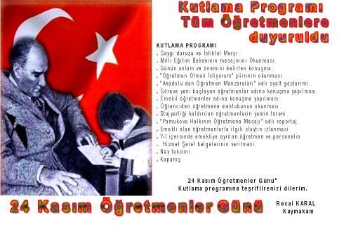 24 Kasım Öğretmenler Günü Adına  program düzenledi