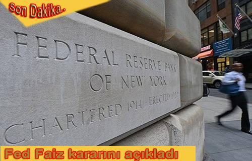 ABD Merkez Bankası 10 yıl sonra ilk kez faiz arttırdı.
