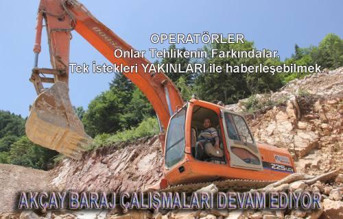 Akçay Barajı Çalışmaları Tam Gaz Devam Ediyor.