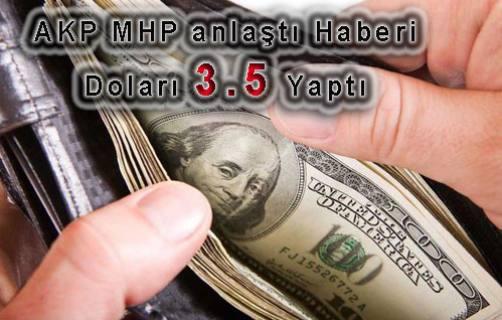 AKP ve MHP başkanlıkta anlaştı, 1 dolar 3.5 TL OLDU
