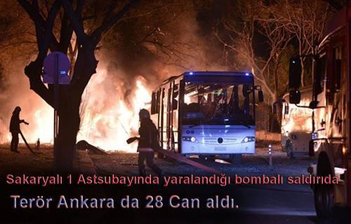 Ankara saldırısında yaralanan Sakaryalı 1 Astsubay da var.