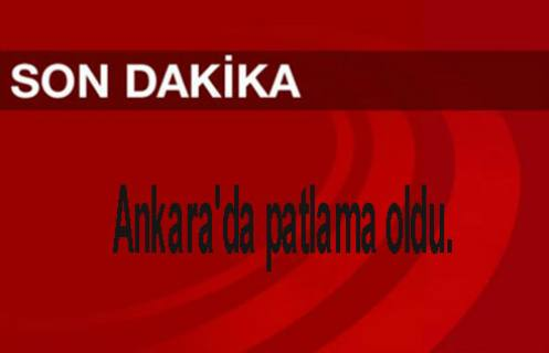 Ankara'da patlama