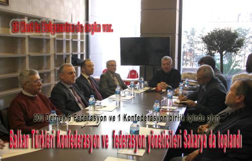 Balkan Türkleri Yöneticileri Sakarya da Buluştular.