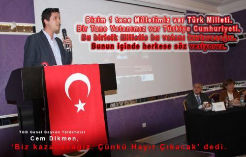 Başkanlığa Karşı Panelde konuşan Cem Dikmen 'Biz Kazanacağız' dedi.