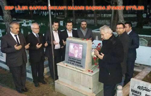 BBP'liler Şehit Emniyet Müdürü Gaffar Okkan'ı ziyaret ettiler.