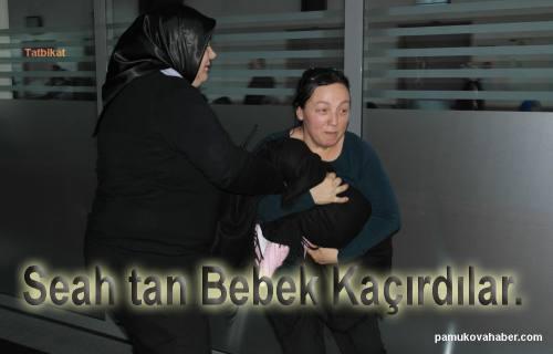 Bebek kaçırıp doktora saldırdılar