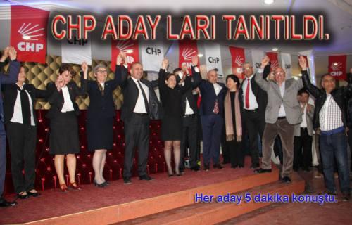 CHP Aday adaylarını tanıttı.