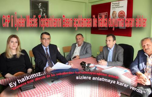 CHP Belediye Meclis üyeleri Meclis kararlarını halka açıklama kararı aldılar.