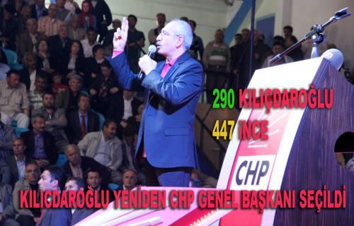 CHP Genel Başkanı Yeniden Kılıçdaroğlu seçildi.