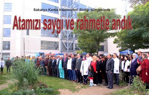 Cumhuriyetimizin Kurucusu Ulu Önderimiz Hastanelerde de anıldı.
