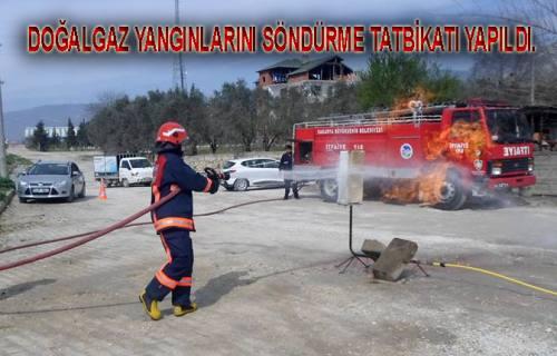 Doğalgaz Yangınlarına karşı İtfaiye ye tatbikat verildi.