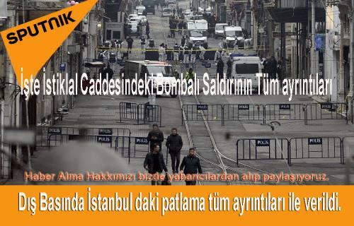 İstanbuldaki Terör Saldırısı Dış Basında Nokta ve virgül ile verildi.