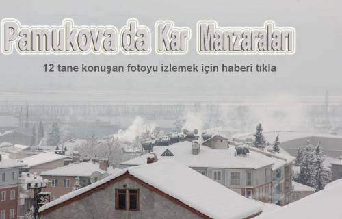 Kar da konuşan fotolar ortaya çıktı.