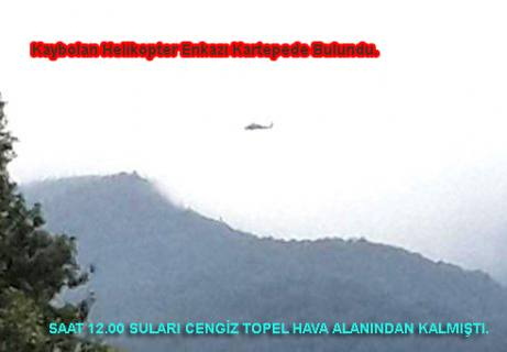Kaybolan helikopterden acı haber. 4 asker şehit.