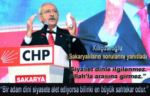Kemal Kılıçdaroğlu Sakaryalıların sorularını yanıtladı.