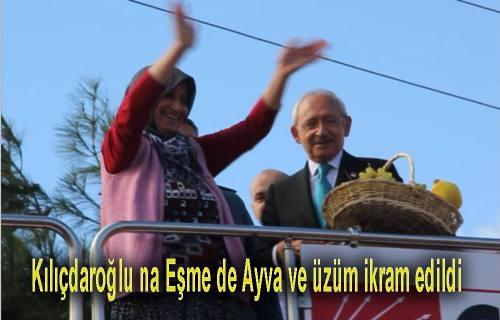 Kılıcdaroğlu'nu Eşme de Coşkulu Bir Kalabalık Karşıladı.