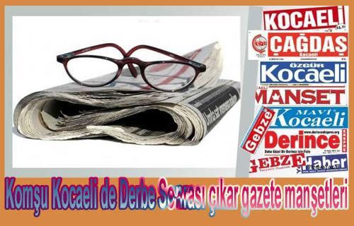 Komşuda Derbe girişimi sonrası gazete manşetleri şöyle.