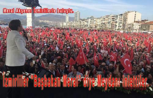 Meral Akşener Sakarya'dan sonra İzmirlilerle buluştu.