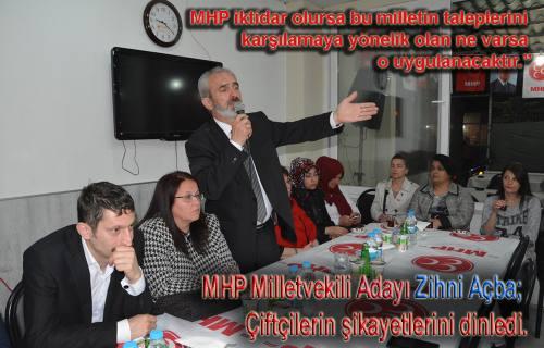 MHP'li Açba ' Ankara'da Sakarya'nın sözcüsü olacağım.'dedi