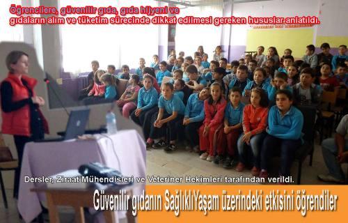 Öğrencilere Güvenilir Gıda ile Sağlıklı Yaşa Eğitimi verildi.