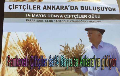 Pamkovalı Çiftçiler de14 Mayıs ta Ankara'ya gidiyor