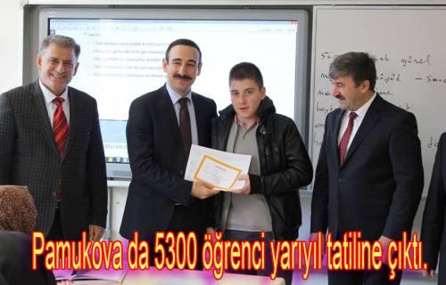 Pamukova da 5300 öğrenci yarıyıl tatiline çıktı.