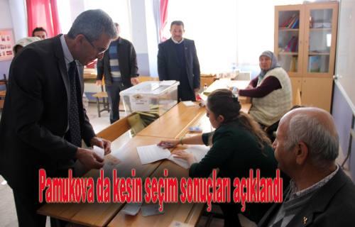 Pamukova da AKP yüzde 67 oy aldı.