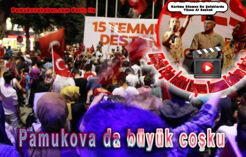 Pamukova da demokrasi mitingi canlı yayında (izleyin)