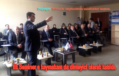 Pamukova da Doğalgaz hakkında bilgilendirme seminerleri başlatıldı.