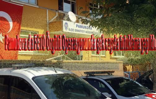Pamukova da Emniyet ve Jandarma eş zamanlı operasyon yaptı.
