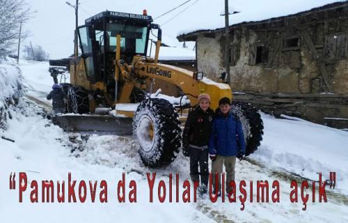 Pamukova da kardan kapalı yol yok.