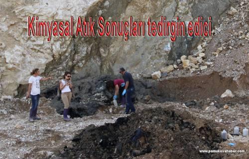 Pamukova da taş ocağında bulunan kimyasal atıklar çok tehlikeli çıktı.