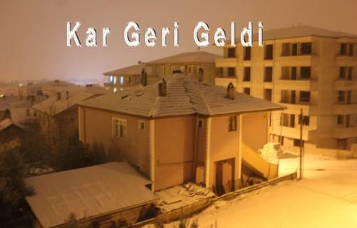Pamukova da Yeniden Kar yağışı başladı