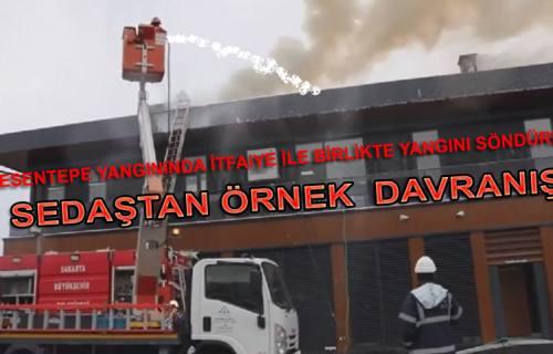 Pamukova Yangınında Sedaştan İnsan Hayatı için örnek davranış