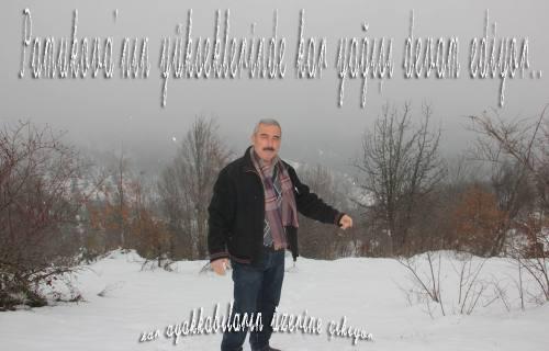 Pamukova yüksekleri beyaza büründü.