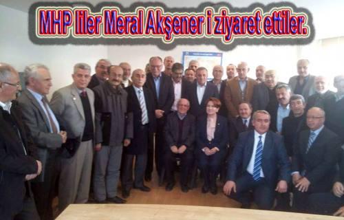 Pamukovalıların da içinde olduğu bir grup Meral Akşener'i ziyaret etti.