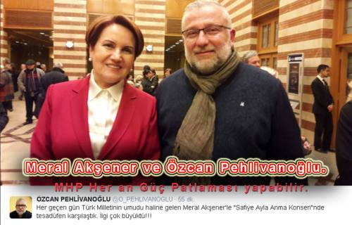 Pehlivanoğlu, Meral Akşener'le tesadüfen karşılaştılar