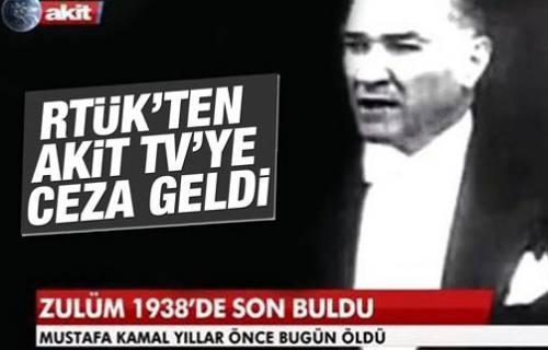 RTÜK'ten Akit TV'ye ceza geldi