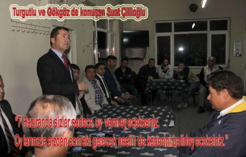 Saadet Parti ve BBP adayları Turgutlu ve Gökgöz de konuştular.