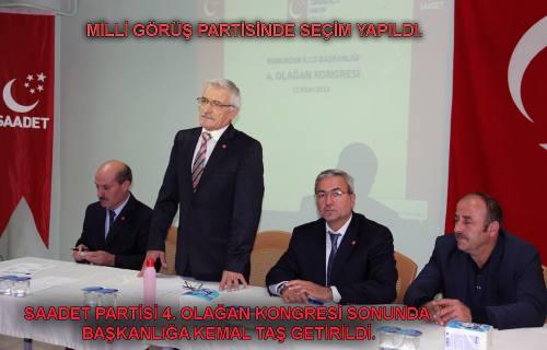 Saadet Partisi, Kemal Taş ve ekibi ile yola devam dedi.