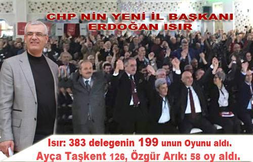 Sakarya da CHP'nin yeni İl Başkanı Erdoğan Isır oldu.