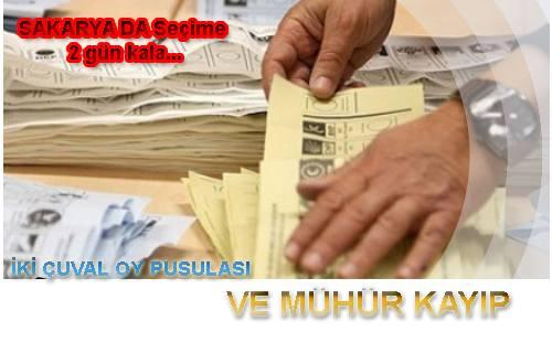 Sakarya'da iki oy çuvalı kayıp