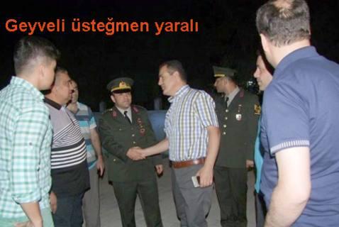 Şırnak'ta teröristlerce açılan ateş sonucu Geyveli Üsteğmen yaralandı.