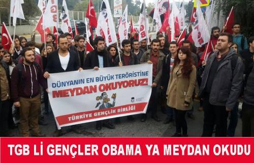 TGB'liler Obama ya sürpriz hazırladılar.