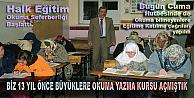 Pamukova Halk Eğitim Müdürlüğü Sonunda okuma yazmaya geçti.