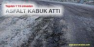 Pamukova#039;da 1 yıl önce yapılan yol bozuldu
